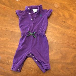 Ralph Lauren purple jumpsuit romper